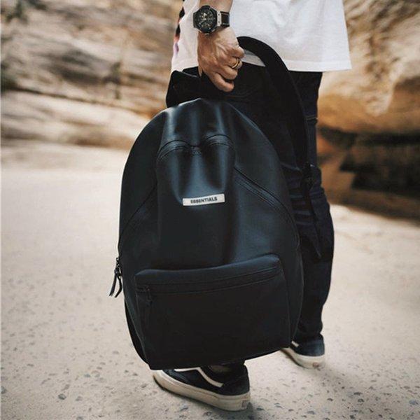 Черная кожаная школьная сумка Новый стиль кожаная школьная сумка