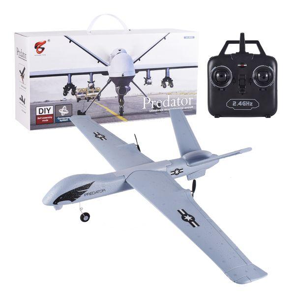 top popular Flying Model Gliders RC Plane 2.4G 2CH Predator Z51 Remote Control RC Airplane Wingspan Foam Hand Throwing Glider Toy Planes Y200413 2021