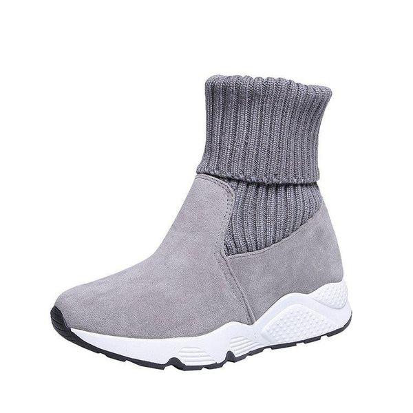 botas de mujer gris