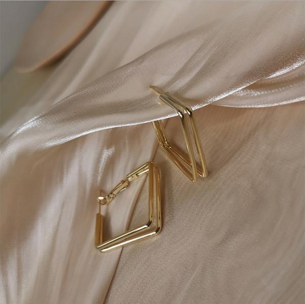 Einzigartige quadratische Ohrringe (echte G # 88750