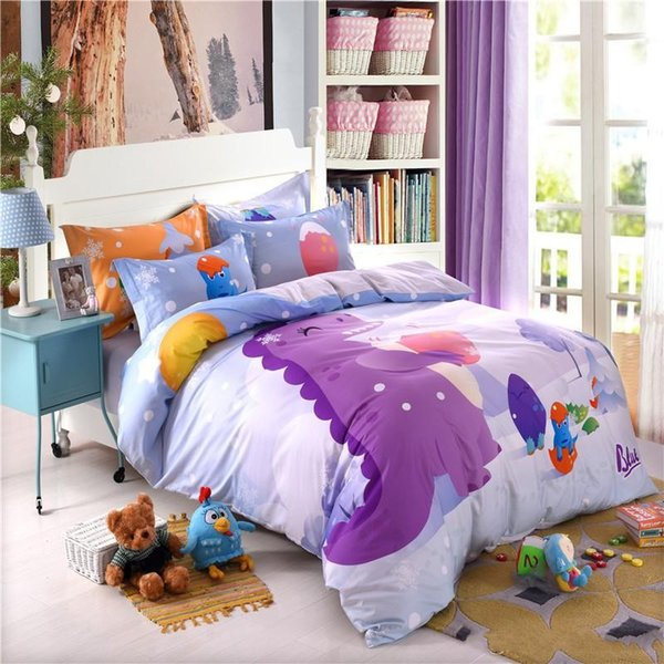 best selling Pure cotton 8 pieces cute children bedding set with pillowcase bed sheet quilt cover boy girl kids bedding