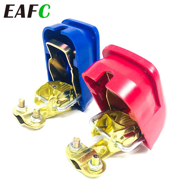Wholesale copper battery terminals for sale - Group buy Cheap Jump Leads Auto Car Terminal Connector Battery Pair Quick Release Battery Terminals Clamps Cap Clips Copper For Car Truck Caravan
