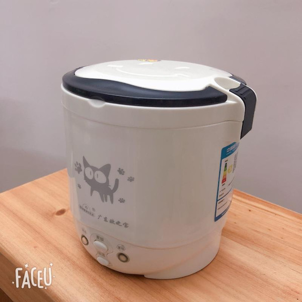 top popular 1L rice cooker used in house 220v or car 12v to 24v enough for two persons with English Instructions 2021