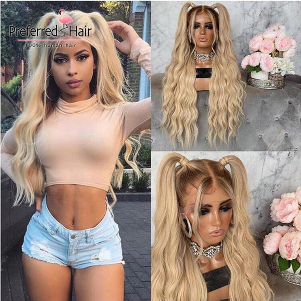 Ombre blonde perruque