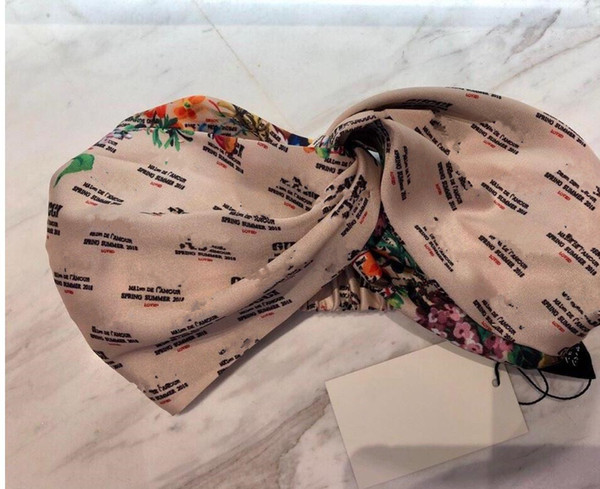 best selling Designer Silk Elastic Women Headbands Fashion Luxury Girls Flowers Floral Hair bands Scarf Hair Accessories Gifts Hot Best Headwraps S905