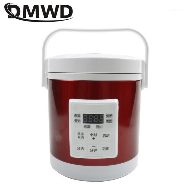 best selling DMWD 12V 24V mini rice cooker 1.6L car trucks electric soup porridge cooking machine steamer warmer fast heating lunch box1