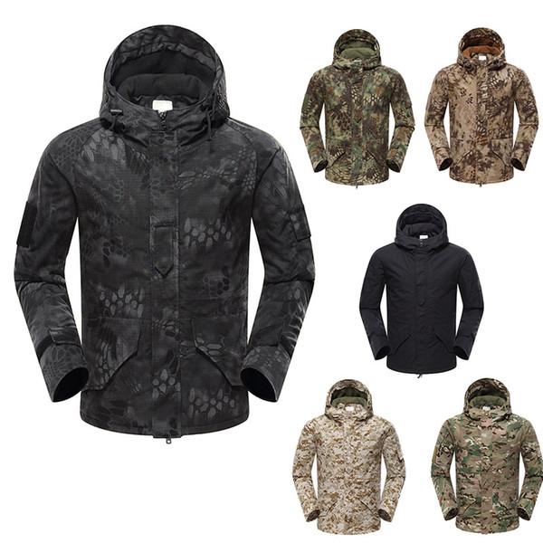 top popular Outdoor Clothing Woodland Hunting Shooting Coat Tactical Combat Clothing Camouflage Windbreaker G8 Outdoor Hoody Jacket NO05-213 2021