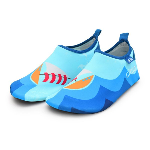 Blau Segelboot