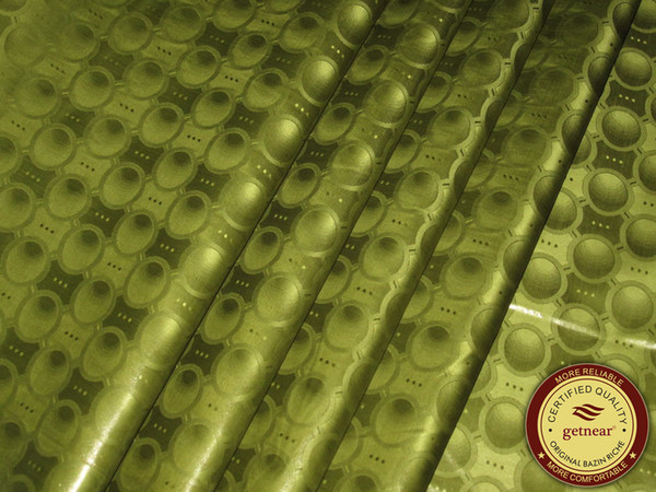 best selling GetzhTex High Quality Bazin Riche Fabric Army Green Damask Shadda Guinea Brocade Soft 100% Cotton 10yards with Perfume Similar to Getzner