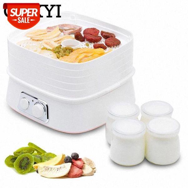 top popular CUKYI Multifunctional Yogurt maker Food Dehydrator Fruit Vegetable Herb Meat Bones Drying Machine Pet Snacks food Dryer 5 trays #CB44 2021