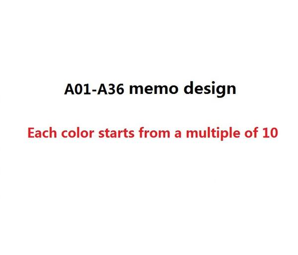 A01-A36 tasarımını Açıklamalar
