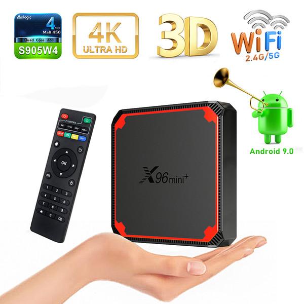 best selling X96 MINI PLUS Android 9.0 TV Box Amlogic S905W4 2GB 16GB 2.4G 5G WiFi 4K Set Top Box Updated X96 MINI