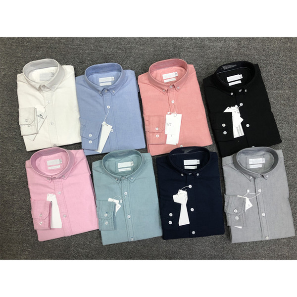 top popular Spring and autumn men's high quality business fashion classic T-shirt men's embroidery New Fashion Men's long Sleeve Shirt 2021