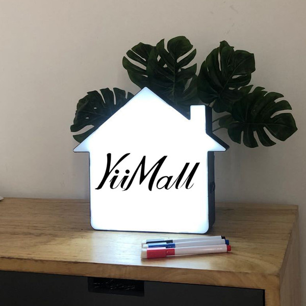 best selling 2021 Creative Led Board Message Box Nightlight Light Holiday Sign Roomtable Decorations Lamp Night 8ICL