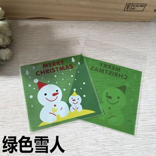 Muñeco de nieve-sobre Green 10 x 14cm, sobre 100