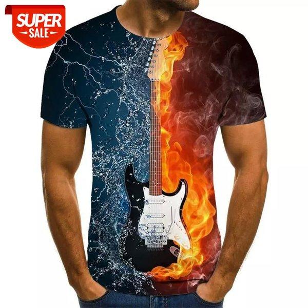 best selling Fashion t-shirt 3D Men women funny hip hop guitar bass tshirt print streetwear music top suit kids t shirt Harajuku Shirts anime #qQ0T