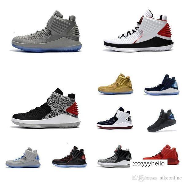 top popular mens Jumpman XXXII 32 basketball shoes retro 32s Purple YelLow Michigan Boys Girls kids Russell Westbrook sneakers boots 2021