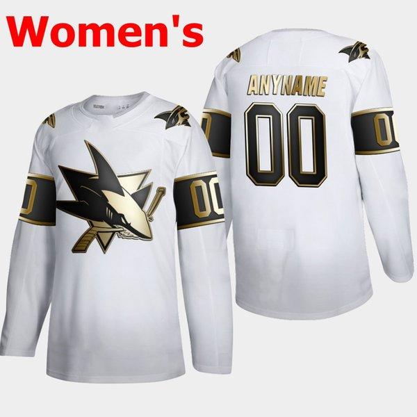 Beyaz 2019 altın basımı Womens
