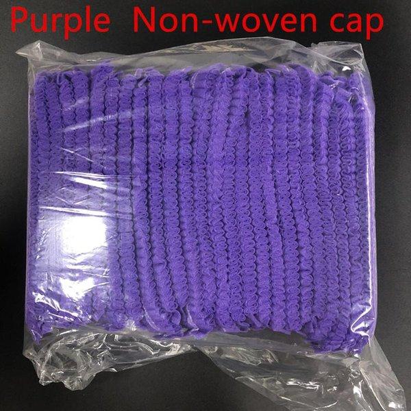 Purple Non woven cap