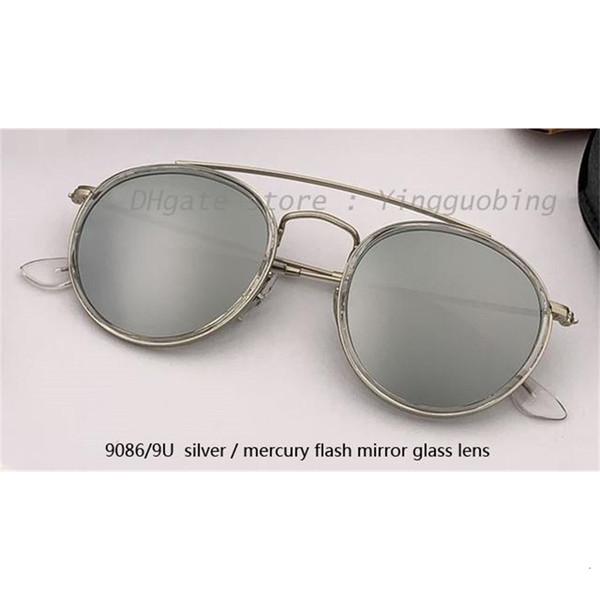 9086 / 9u prata / prata flash lente de espelho