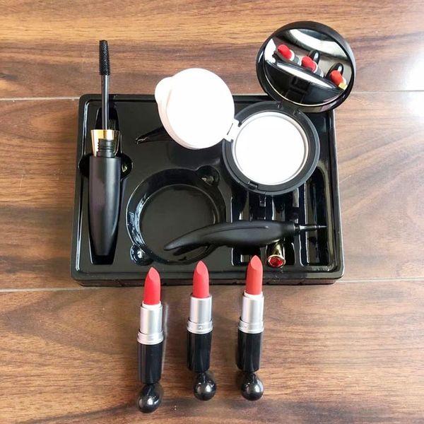 best selling Brand 6in1 Makeup Sets Lipstick Face Powder Foundation BB & CC Creams waterproof Mascara Eyeliner pen 6in1 Makeup Set