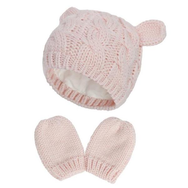 #4 baby hat mittens set