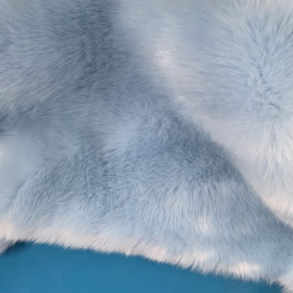 Sky Blue Fur Coat