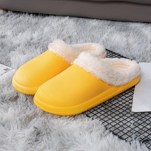 Chaussure en coton étanche jaune