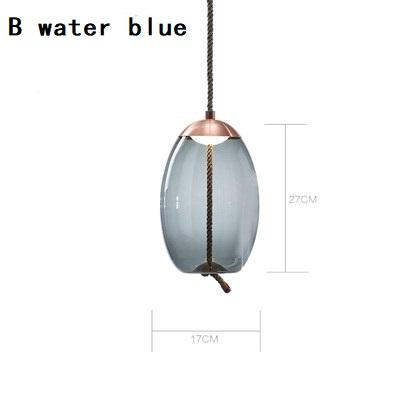 B azul água