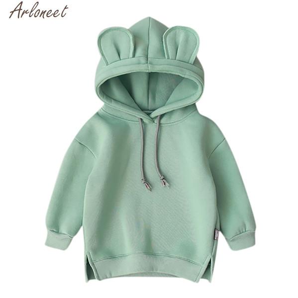 best selling ARLONEET Toddler Baby Kids Boy Girl Cartoon 3D Ear Kids Hoodies Cute Baby Girl Sweatshirts x27s Sweatshirt For Boy Q0109