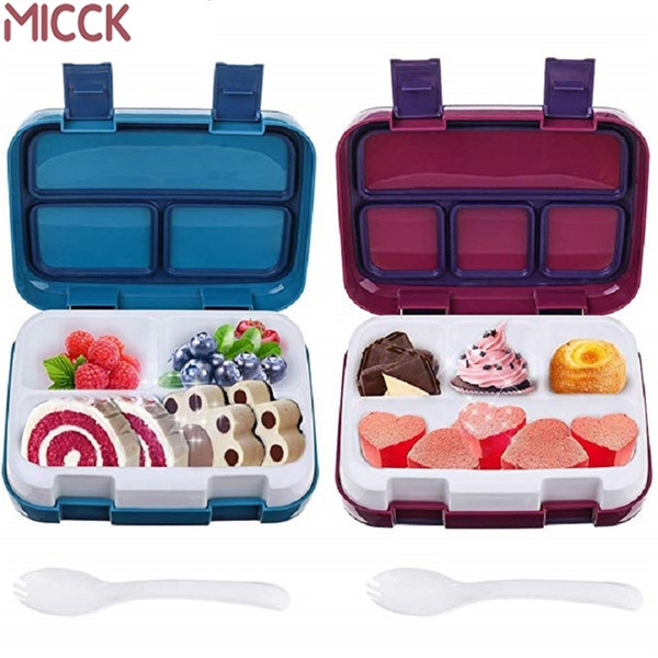 top popular MICCK Lunch Box For Kids Fruit Food Container Microwave Portable School Compartment Leakproof Bento Box Children Kitchen Storag 201210 2021