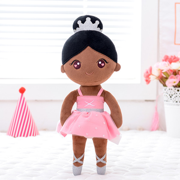 top popular Gloveleya Plush Toys Ballet Dancer Dolls Dreaming Girl Gift for Kids Girls Doll Black Hair Ballet GIrl Bauble 1011 2021