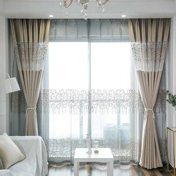 top popular Modern Curtains for Living Dining Room Bedroom Simple Thick Stitching Fabric modern Curtain Finished Product Customization 2021