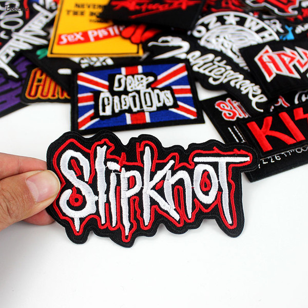 top popular Free Shipping Custom Patches Iron On Patches For Clothing Motorcycle Biker Patches Embroidered Badges Jacket Accessories Stripe Sticker 2021