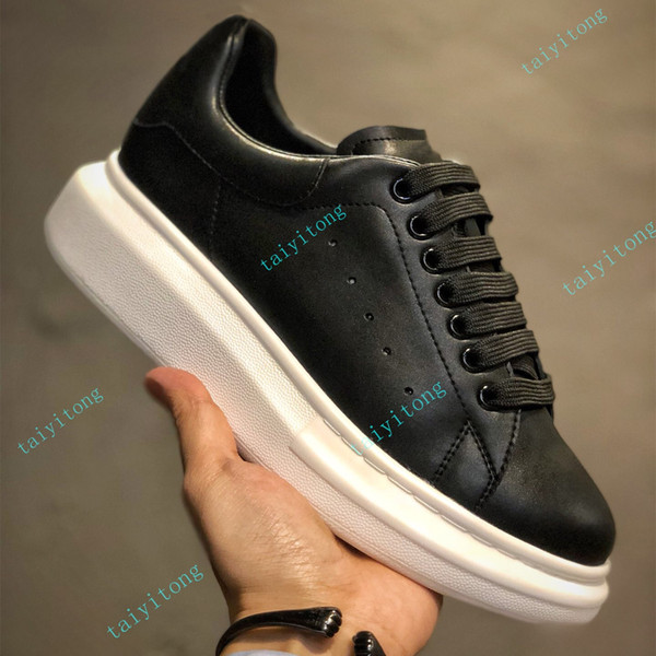 top popular fashion shoes Casual Shoes Height Increasing Comfort Women Men Casual shoes Leather Platform Leather Solid with box 2021