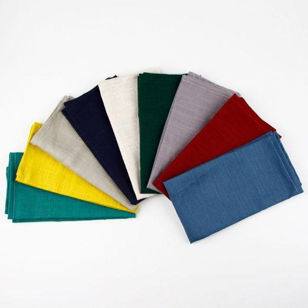 top popular New 30x40cm Slub cotton Linen Napkins placemat heat insulation mat dining table mat kids Fashion Napkin fabric table placemats 2021