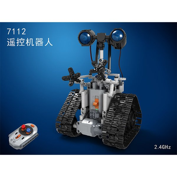 best selling New hot compatible ed remote control robot building blocks electric movable hair sound STEAM science and education toys Toys