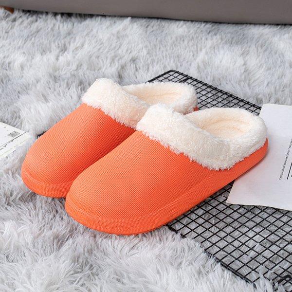 Chaussure en coton étanche rouge