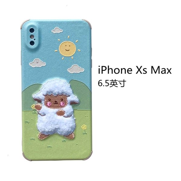 Iphone Xs Max Embroidery Grassland Sheep