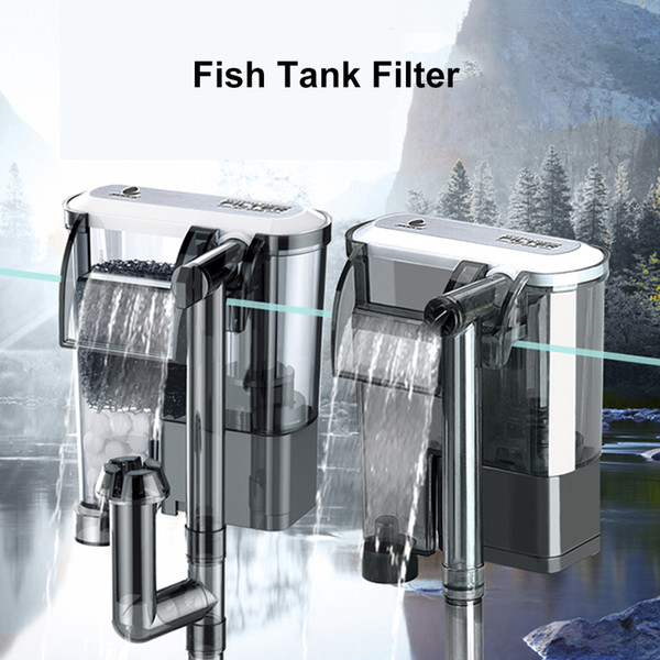 best selling Fish Tank Filter External Filter for Aquarium Waterfall Suspension Oxygen Pump Submersible Hang on Fliter Aquarium Accessories Y200917