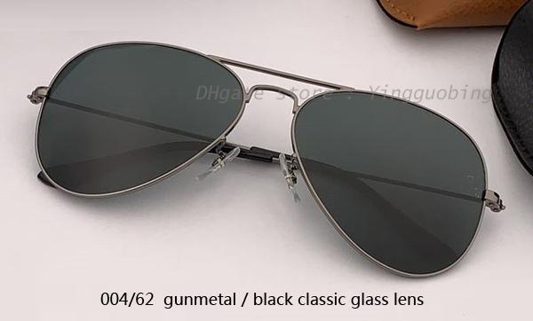 004/62 gunmetal / عدسة سوداء كلاسيكية