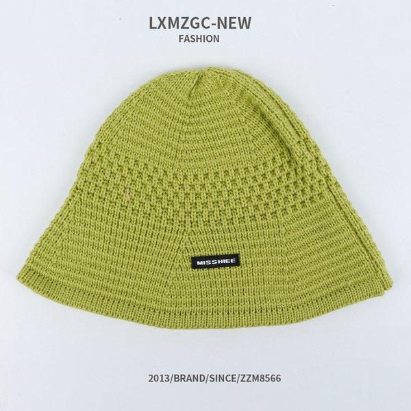 Мисс Ткань этикетка бассейна вязаная шляпа - зеленый