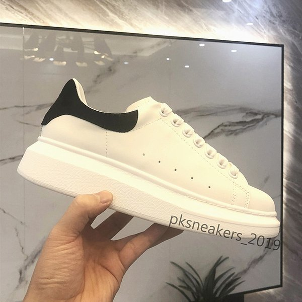 best selling Mens Womens Trainers Reflective White Leather Platform Shoes Top Quality Womens Mens Flat Casual Party Wedding Shoes Black Suede Sports Shoe
