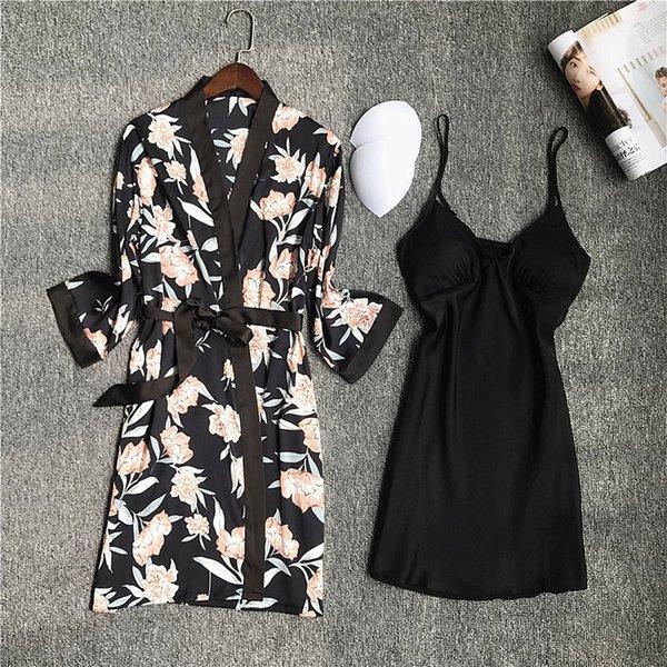 Set noir -robe