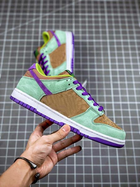 top popular 2021 SB Low Ceramic Dunk Purple Brown Green Skateboard Shoes Men Women Dunks Sports Sneakers Skateboarding Shoe Mens Trainers Chaussures 2021