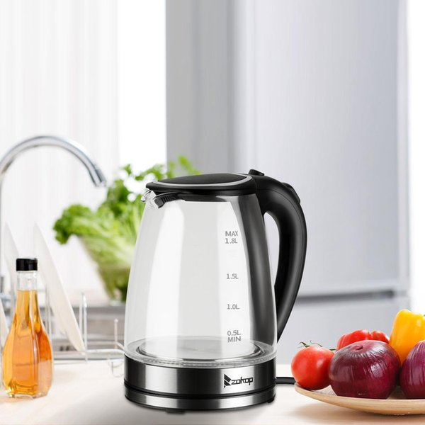 best selling Electric Glass Kettle, 220V 2200W 1.8L Stainless Steel Blue LED Light, Hot Water Kettle for Tea and Coffee Boiler Heater UK Plug