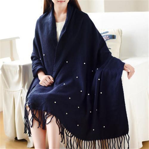scarf women blue