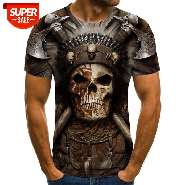 top popular New T-shirt male high-quality Cool male T-shirt short-sleeved 3D printing #Kd52 2021