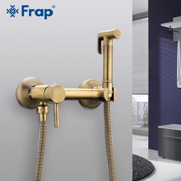 best selling FARP Bidets shower bronze wash head hygienic shower sprayer airbrush tap cold & hot mixer toilet kit spray bidet spray C0127