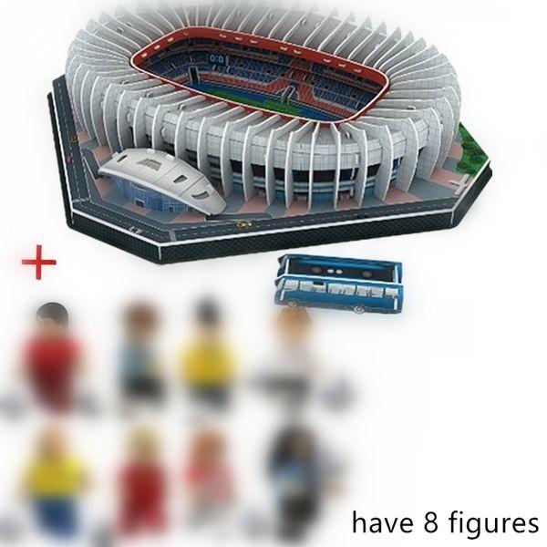 top popular HOT NEW Jigsaw 3D Puzzle Architecture Stadio France Parc des Princes Football Stadiums Toys Model Sets Building Paper Y200413 2021